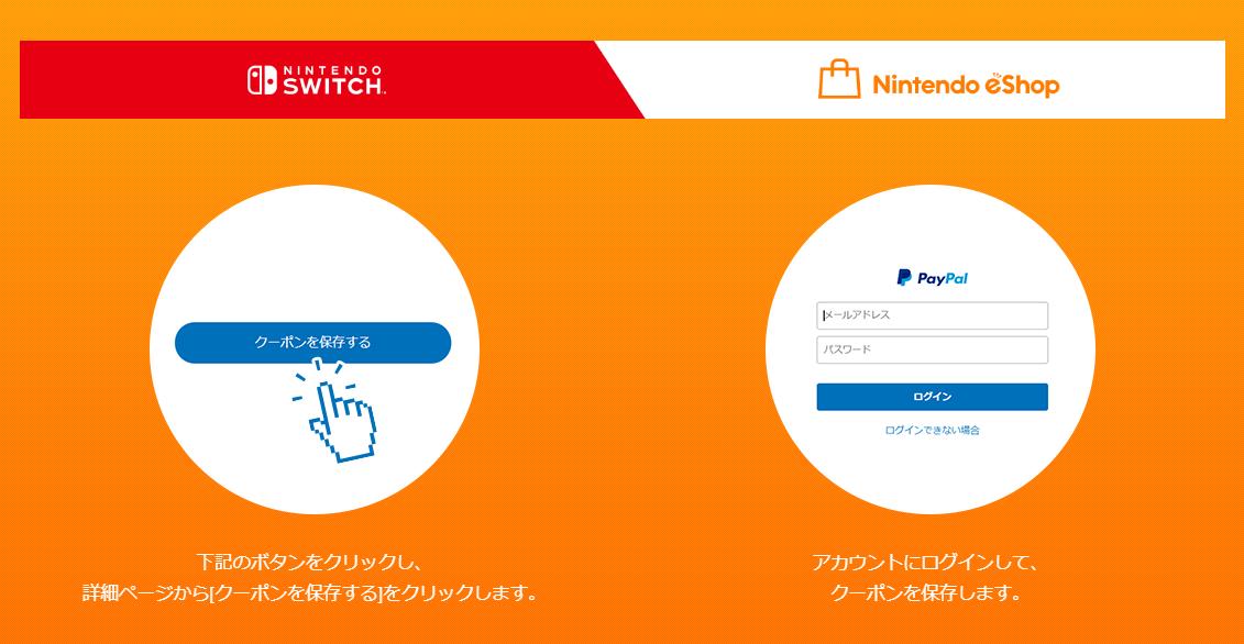 ニンテンドーeショップでPayPal決済すると500円引きになるクーポンを配布中