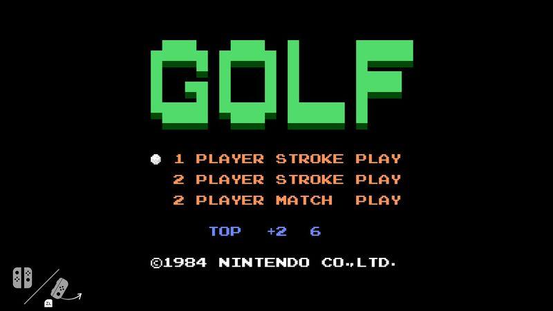 ニンテンドースイッチにファミコン「ゴルフ」が内蔵されていることが判明【9/20更新】