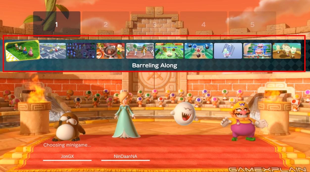 スーパーマリオパーティ オンラインで選択できるミニゲームは全10種